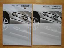 CHRYSLER Voyager & Grand Voyager 2000 year Swiss Mkt prestige sales brochure set