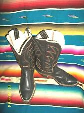 WOMEN'S CUSTOM COWBOY BOOTS-BLACK SQUARE TOE 7.5