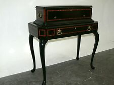 "Antique Lith. J. Dajoz Swiss Music Box W/ Drawer Stand, W/ 3 (e) 14"" Cylinders"