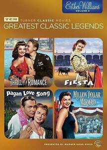TCM GREATEST CLASSIC LEGENDS ESTHER WILLIAMS VOL 2 New Free Shipping