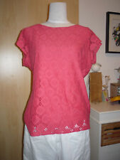 BANANA REPUBLIK  Spitzen Shirt kurzarm pink Gr.42