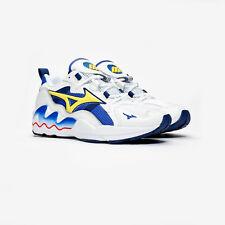 Mizuno Wave Rider 1 OG Blanco Cuero/malla Retro Running Zapatos/Zapatillas
