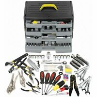 105 Piece Tool Kit w/4 Four Drawer Case - Home/Shop/Garage/Car LIFETIME WARRANTY
