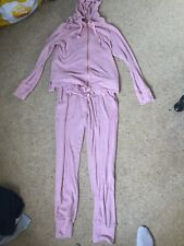 Womens Next Pink Pjama Set Size 10 Bottoms And Size 6 Top But Fits A 10/12