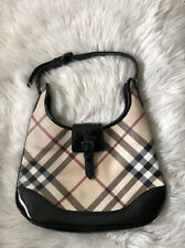 AUTHENTIC BURBERRY NOVA CHECK PVC LEATHER HOBO BAG