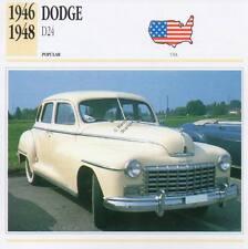 1946-1948 DODGE D24 Classic Car Photograph / Information Maxi Card