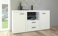 Sideboard large  cabinet tv unit dark oak,white , living room furniture