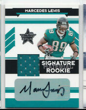 Marcedes Lewis 2006 Rookies & Stars Signature Material Auto Relic Autograph /449