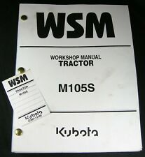 Kubota Tractor M105S Workshop Service Repair Manual Book Catalog List OEM