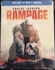 RAMPAGE Blu-ray/Digital Steelbook Bestbuy Exclusive Dwayne Johnson BRAND NEW