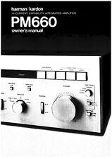 Harman Kardon PM-660 Amplifier Owners Manual