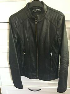 GUESS Los Angeles Women's Faux-Leather Jacket size M