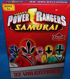 Valentines Day Cards (Box of 32) Saban's Power Rangers Samurai