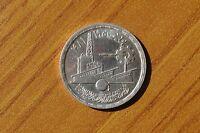 MONETA EGITTO 1 POUND 1981 INDUSTRY ARGENTO SILVER 720 peso 15 gr SUBALPINA