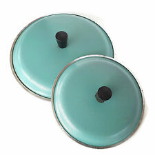 "Vintage Club Aluminum Turquoise Lids 8"" 6"" Set of 2 Sauce Pan MCM Replacement"