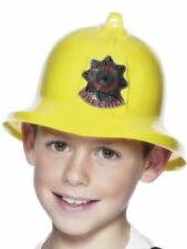Smiffys Fireman Hat, Yellow, with Badge - Male - One Size