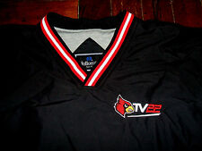 Louisville Cardinals TV 22 RARE Lined Pullover Jacket Adult XL Blue Red & White