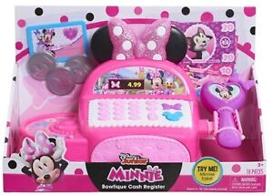 Disney Junior Minnie Mouse Bow-Tique Cash Register Ages 3+ Toy Play Credit Card