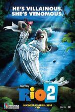 Rio 2 (2014) Movie Poster (24x36) - He's Villainous She's Venomous