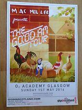 Mac Miller - Glasgow may 2016 tour concert gig poster