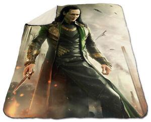 Tom Hiddleston Blanket Winter 150 x 200 cm Queen size NEW Fleece Christmas Loki