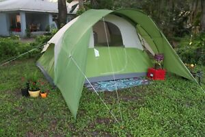 Coleman Dome Camping Tent | Sundome Outdoor with Easy 6 Person, Green