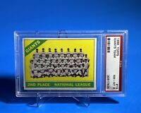 1966 Topps #19 San Francisco Giants Team Checklist. Pack Fresh - PSA 8 -NM-Mint!