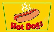 Hot Dogs 5x3' Flag Fast Food Banner Burger Van
