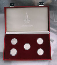 1977- 1980 Russian Russia platinum coins 5 x 150 rubles Moscow Olympics proof