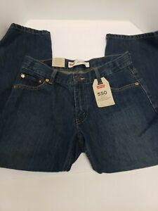 Levis 550 Boys Jeans Relaxed Fit Tapered Leg Kids size 8H NEW