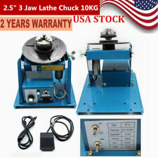 """New listing 2.5"""" 3 Jaw Rotary Welding Positioner Turntable Table Lathe Chuck 2-10 r/min Usa"""