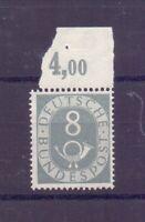 Bund 1951 - MiNr. 127 postfrisch** Oberrand geprüft - Michel 30,00 €+ (696)