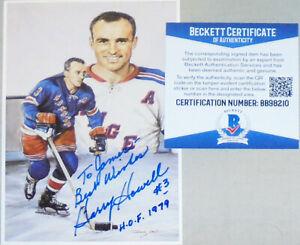 HOF -Harry Howell- BAS Signed/Autograph/Auto NY Rangers NHL Hockey Jumbo Card