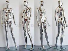 Female Unbreakable Plastic Mannequin Display Head Turns Dress Form #PS-SF1SCEG