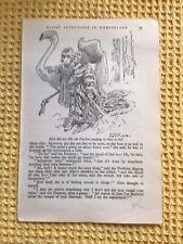 More details for vintage alice in wonderland illustration book plate ,original c1900 , tenniel a4