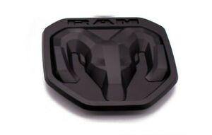 2019-2021 DODGE RAM 1500 2500 3500 DT Matte Black Tailgate RAMs Head emblem NEW