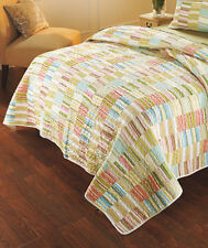French Country Vintage Inspired Patchwork Bed Quilt Cabana Double New