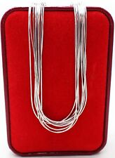 WHOLESALE LOT 10 PCS CHAIN 925 STERLING SILVER JEWELRY - RHODIUM PLATED
