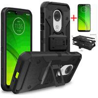 For Motorola Moto E5 E6 Z3 Z4 G7 Play Power Armor Belt Clip Holster Case Cover