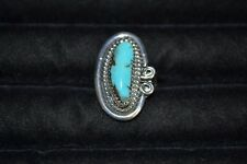 Size 8 Handmade Sterling Silver and Turquoise Ring