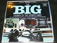 Capitol STEREO Banner Very Clean BIG SOUNDS OF THE SPORTS CARS Hot Rod Clasc LP