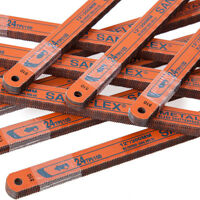 "10 x Bahco 12"" 300mm Sandflex Bi-Metal Hacksaw Blades 18 24 32 TPI Shatter Proof"