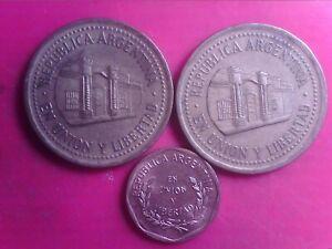 ARGENTINA    1  CENTAVO   1998   50  CENTAVOS  1992  1994      JUN18