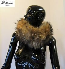 COLLO in PELLICCIA di MURMASKY FOURRURE FUCHS SCARF fin raccoon FUR FOX sciarpa