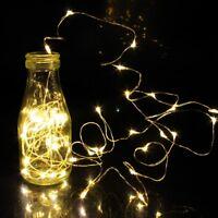2M 20er LEDs Lichterkette Draht Micro warmweiß MIKRODRAHT STRING FEENLICHT