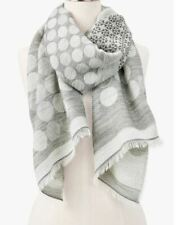 TALBOTS SHIMMER DOTS & SNOWFLAKES OBLONG SCARF