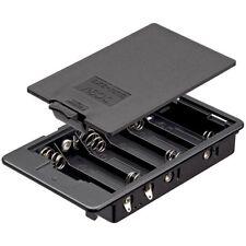 Batteriehalter Fach für 6x AA ergibt 9 Volt, mit Lötfahne und Deckel