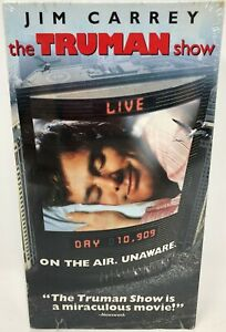 New The Truman Show VHS Movie Video Jim Carrey Ed Harris Laura Linney Trueman