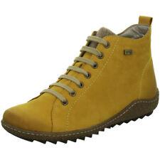 Remonte Damen Schuhe Stiefel Stiefelette Boots Schnürer R4789-68 gelb Leder TEX