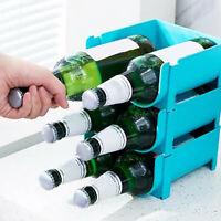 Beer Bottle Beverage Cans Storage Box Rack Shelf Holder Stackable Refrigerator
